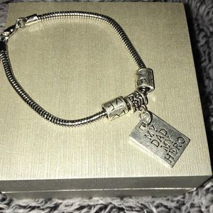 Jewelry - My dad my hero bracelet charm adjustable